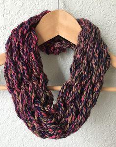 Arm Knit Scarf Infinity Scarf Fall/Winter Scarf by ScarvesBySealey