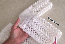 Tigla Baby Cardigan Messtabelle Und Hers Cardigan Crochet Baby Sweater Pattern, Crochet Baby Sweaters, Gilet Crochet, Baby Sweater Patterns, Crochet Baby Clothes, Baby Knitting Patterns, Free Knitting, Knit Crochet, Crochet Patterns