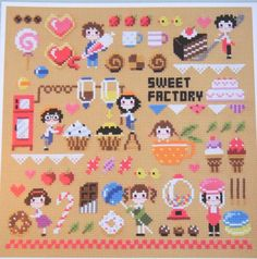 You won't lose teeth or gain weight with these candy inspired cross stitch patterns, but they will help settle that sweet-tooth craving.