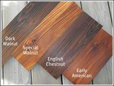 Wood Stain Options Farmhouse Love
