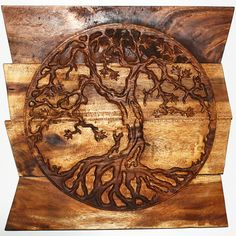 Add some warmth to your home or office d�cor with this unique Tree of Life wall art from Thailand. Featuring an uneven wood background, this piece of artwork displays the meaningful symbol of the tree of life used in several religions and cultures.