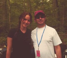 jennifer behind the scenes for The Hunger Games...