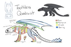 Toothless quadsuit idea by nooby-banana on deviantART