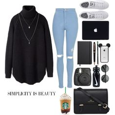 College by ziamsangelz on Polyvore featuring polyvore, fashion, style, Hope, Topshop, adidas, Sloane, ASOS, Montblanc, Shinola and NIKE