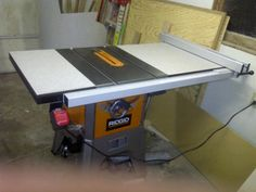 Table saw cabinet design the garage journal board shop tools fence upgrade options for ridgid r4512 and other stuff too by lumberjoe table saw greentooth Choice Image