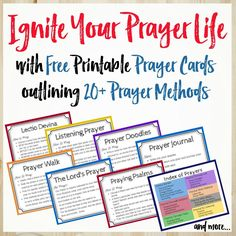 Not sure what to pray? The ACTS prayer method is an easy-to-remember outline for your prayers. Free printable prayer cards for ACTS prayer and more! Acts Prayer, God Prayer, Prayer Book, Power Of Prayer, Prayer Cards, Strength Prayer, Healing Prayer, Prayer Wall, Prayer List