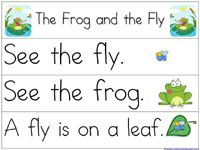 Pocket Chart Printables for The Frog and the Fly book {Pond theme}