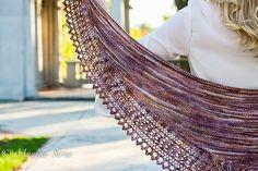 Caramel Frappé Lace shawl