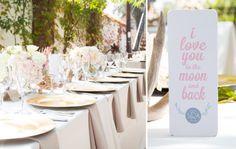 www.ostaraphotography.com, ©Ostara Photography, San Juan Capistrano, The Villa in San Juan Capistrano, Spanish Style Wedding, Love you to the Moon and Back, Table scape, outdoor weddings