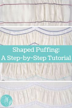 """Do you want to add a """"wow"""" factor to your next heirloom sewing project? Try using shaped puffing as the focal point. This technique is ideal for adding a wonderful, visual texture to christening gowns, girl's dresses, fancy pillows and more. In this article, designer Sue Stewart walks you step-by-step through the process of making and shaping your puffing for perfect results. #sewitall #sewing #pattern #sew #diy #craft #project #marthapullencompany #marthapullen"""