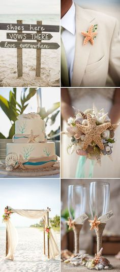 2017 summer beach wedding ideas with starfish