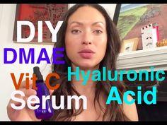 DIY hyaluronic acid DMAE Vit C serum - YouTube