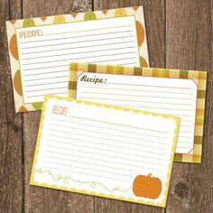 Free printable recipe cards! Nom nom nom...