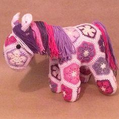 lineandloops:: Petals the African flower pony. #custommade #handmade #heidibears #amigurumi #crochet #crochetpony #crochethorse #horse #fattylumpkin #crochetfattylumpkin