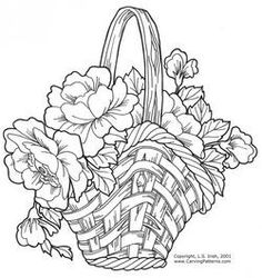 Wicker Baskets and Floral Arrangements Pattern Package - download