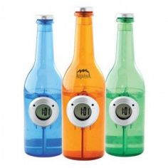 Water Powered Clock in Bottle Shape, Go Green, No Batteries Required Just add water Buy here: http://amzn.to/13JZXqA The best way to go green