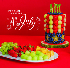 Produce A Better Fourth of July BBQ: To help you prep for your Fourth of July BBQ, here's a fun and creative way to celebrate using fresh fruit and Marzetti Fruit Dip!