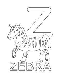 free printable Letter z craft of a zebra; perfect