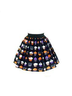 Hemet Gothic Cupcakes Aline Skirt