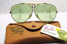 RAY-BAN *NOS VINTAGE B&L AVIATOR 12k GF RB-3 BH Shooter SUNGLASSES&CASE
