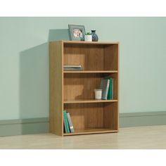 Red Barrel Studio® Richins Standard Bookcase | Wayfair 3 Shelf Bookcase, Small Bookcase, Sauder Woodworking, Wood Floating Shelves, Adjustable Shelving, Barrel, Solid Wood, Living Room, Storage