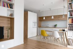 Mieszkanie M&M - Mała otwarta jadalnia w kuchni, styl nowoczesny - zdjęcie od 081architekci