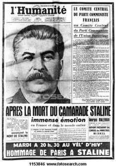 """""""APRES LA MORT DU CAMARADE STALINE"""" - L'Humanité 7 Mars 1953"""