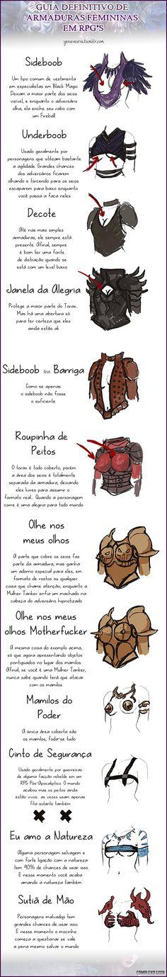 Guia definitivo das armaduras femininas em RPG's