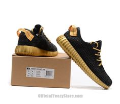 2448bbcbe3056 Adidas Yeezy Boost 350 Unisex Black Gold Womens   Mens Trainers Shoes