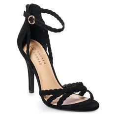 Lauren Conrad Pie Crust High Heel Sandals, Gray, 7.5   eBay