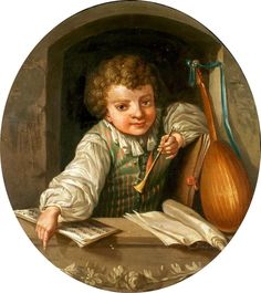 """""""Boy with Flute"""" by Ulrika Pasch (1735–1796)"""