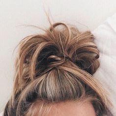 Sloppy bun