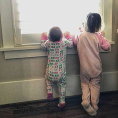 Parents are going back to work after spending some quality time at home celebrating the holidays. These sweet little kids are sad waving goodbye to their parents but are excited to have their nanny back!  #Holidays #backtowork #mom #dad #wave #goodbye #miss #work #office #nanny #manny #noschool #fun #games #activity #pajamas #window #nannylife #celebrate #kids #children
