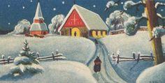 rudolf koivu illustration print - Google Search Scandinavian Christmas, Google Search, Illustration, Artist, Painting, Artists, Painting Art, Paintings, Illustrations