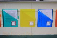 Each student has a folder to turn in homework. At a glance you can see who has and has not turned in their work.