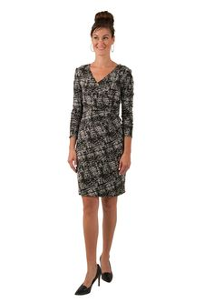 Emma Mock Wrap Dress