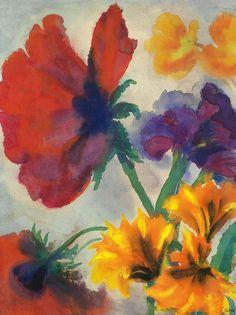 Emil Nolde - Flowers, 1932