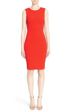 St. John Collection Luxe Sculpture Knit & Classic Cady Dress available at #Nordstrom