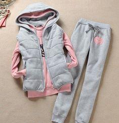 New 2013 women s tracksuits women sport suits Winter Korean Tracksuits Women s  sweatshirt pants Vest Three- cf2c8167ad9