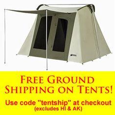 : Kodiak Canvas 10x10 Flex-Bow Tent - Deluxe