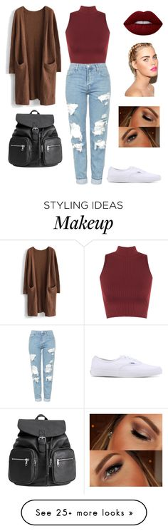 """Cold ❄️"" by jhutcher on Polyvore featuring WearAll, Chicwish, Topshop, Vans, Lime Crime and Urban Decay"
