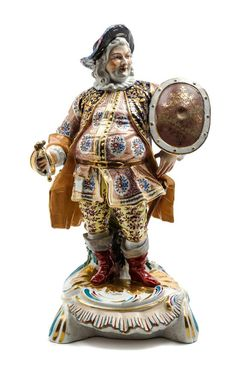 A Derby Porcelain Figure of a Cavalier Height 17 inches.