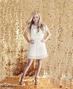 Spangled, gold sequin backdrop by drop it MODERN. photo by Mika Beth Edwards