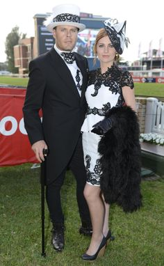 Stylish couple at the Ben and Cornell du Preez wearing Monique Talitha Couture. Stylish Couple, Races Fashion, Play Dress, Playing Dress Up, Trendy Fashion, Riding Helmets, Racing, Couture, Couples