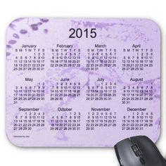 Old Purple Paint 2015 Calendar Mousepads Design from Calendars by Janz $12.35