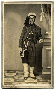Full Dress Zouave Carte De Visite By JB Smith Of Utica NY A Union Soldier