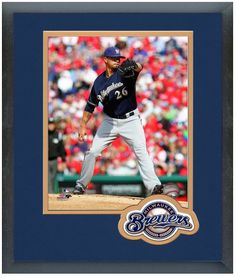 Kyle Lohse 2014 Milwaukee Brewers - 11 x 14 Team Logo Matted/Framed Photo
