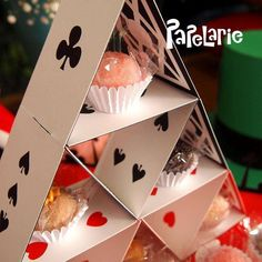Treats tower at an Alice in Wonderland birthday party! See more party ideas at CatchMyParty.com!