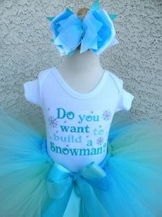 Embroidered Do You Want To Build a Snowman Frozen Inspired Outfit For Girls http://www.tutusweetshop.com/item_1240/Embroidered-Do-You-Want-To-Build-a-Snowman-Frozen-Inspired-Outfit-For-Girls.htm