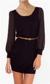 black dress, sheer accents
